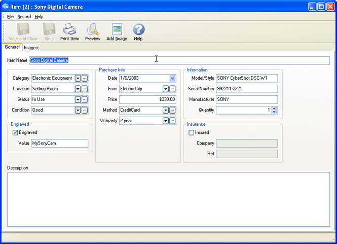 InventoryBuilder Screenshot