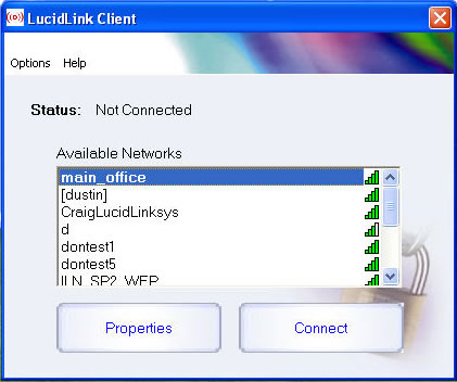 LucidLink WiFi Client Screenshot