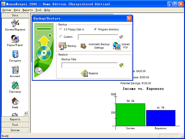 MoneyKeeper 2005 - Home Edition Screenshot