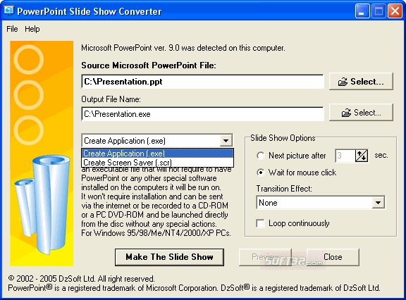 PowerPoint Slide Show Converter Screenshot 4