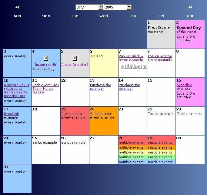 Scriptcalendar Screenshot 2