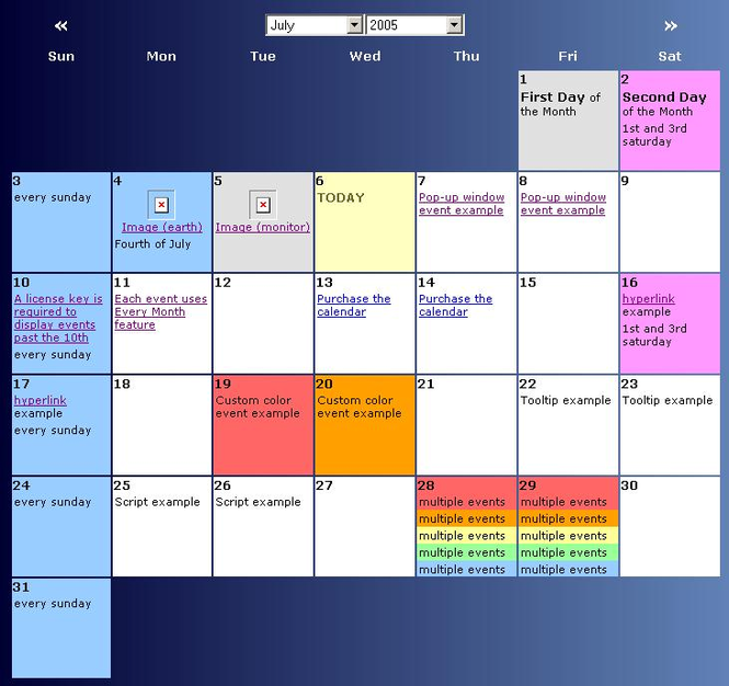 Scriptcalendar Screenshot 1