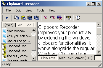 Clipboard Recorder Screenshot