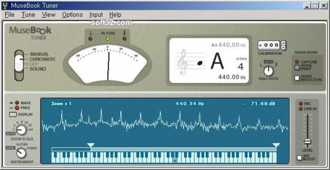 MuseBook Tuner Screenshot 3
