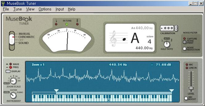 MuseBook Tuner Screenshot 1