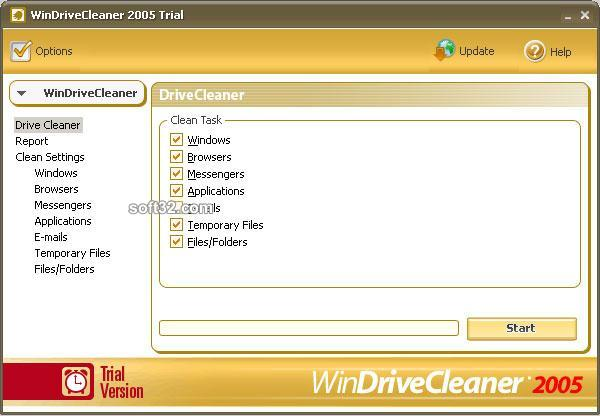 WinDriveCleaner 2005 Screenshot 1