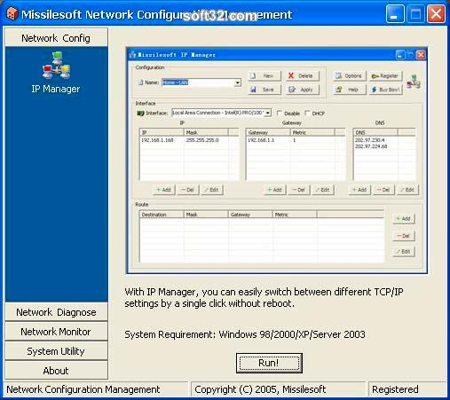 Network Configuration Management Screenshot