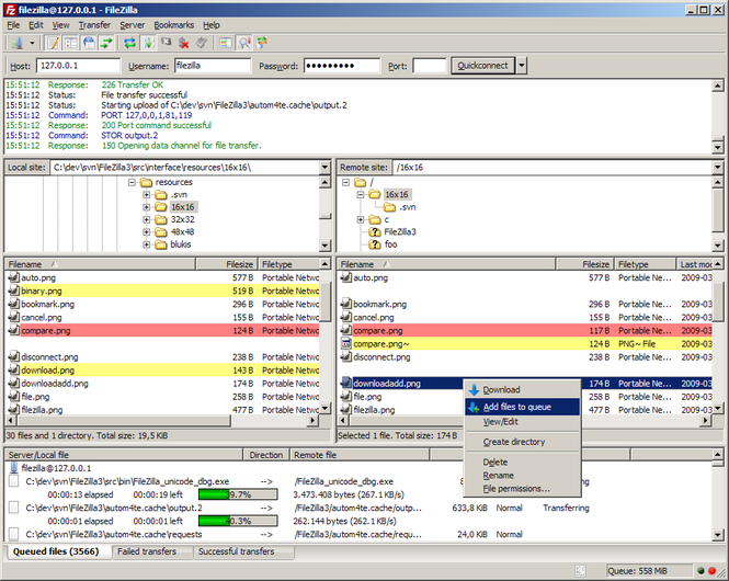 FileZilla Screenshot 1