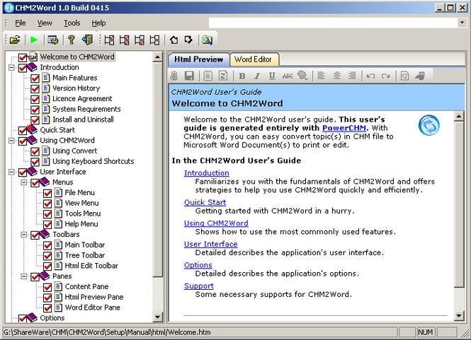CHM2Word Screenshot 1