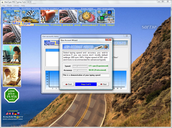 MaxType PRO Typing Tutor Screenshot 5