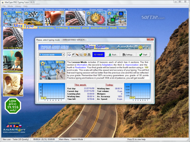 MaxType PRO Typing Tutor Screenshot 6