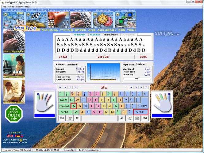 MaxType PRO Typing Tutor Screenshot 7