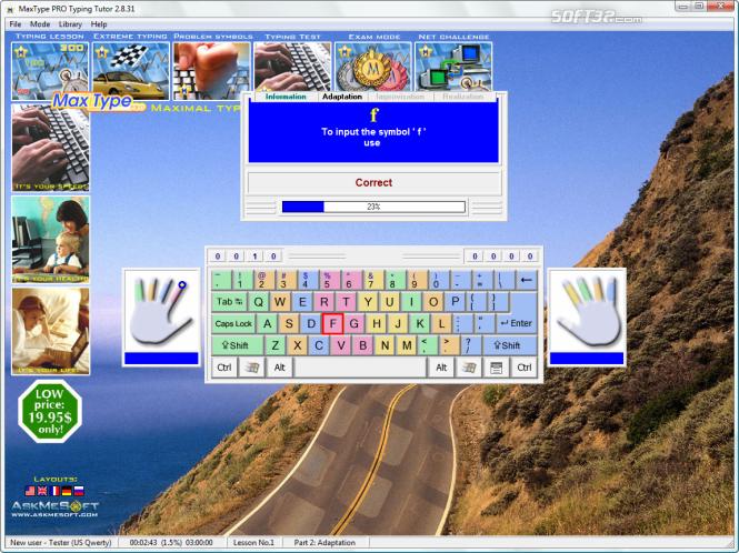 MaxType PRO Typing Tutor Screenshot 4