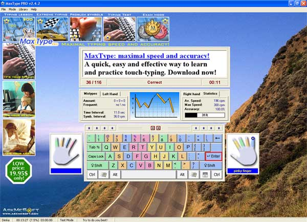 Download MaxType PRO Typing Tutor 3 0 2