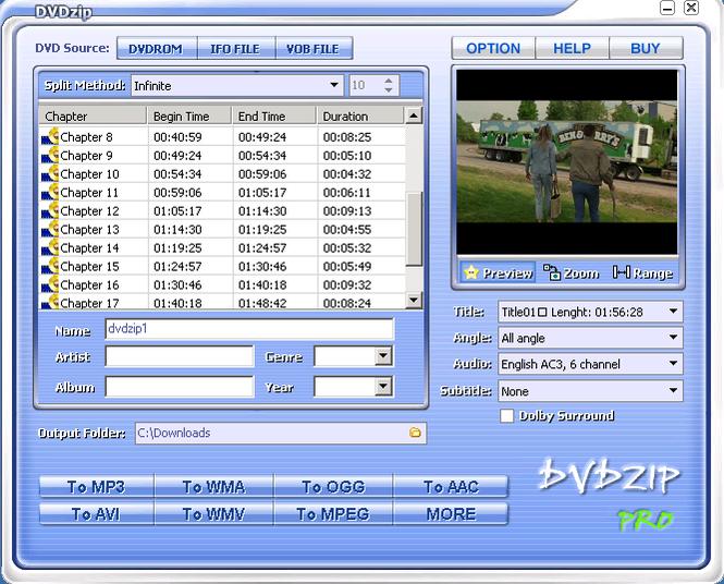DVDZip Screenshot