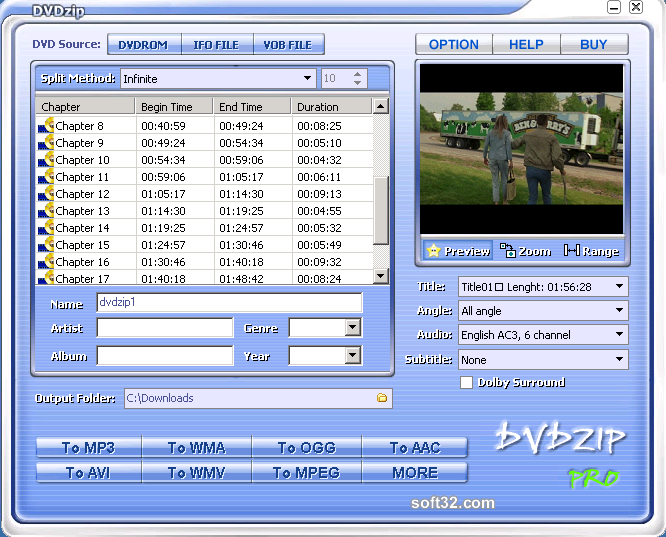 DVDZip Screenshot 2