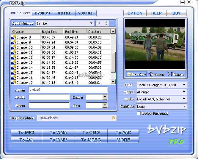 DVDZip Lite Screenshot 2