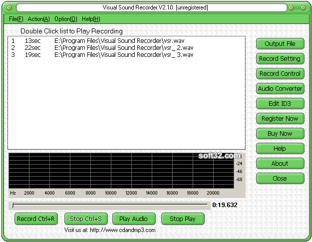 Visual Sound Recorder Screenshot 2
