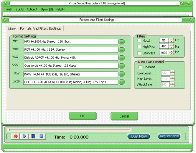 Visual Sound Recorder Screenshot