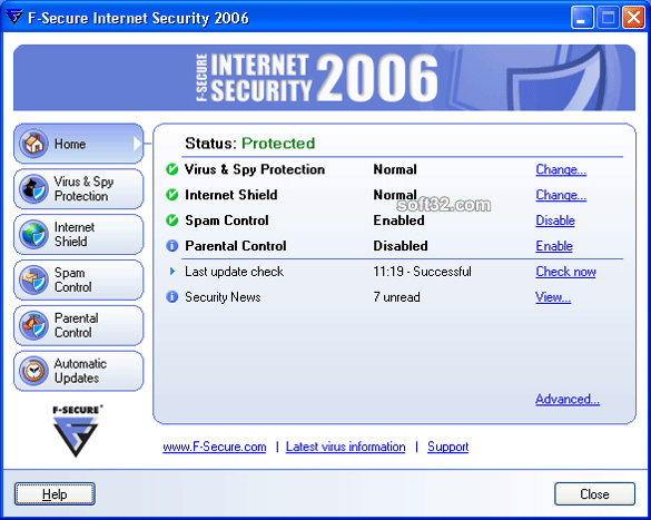 F-Secure Internet Security 2006 Screenshot 1