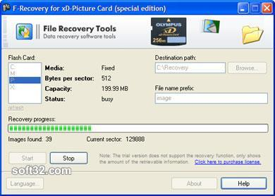 F-Recovery for xD-Picture Card Screenshot 3