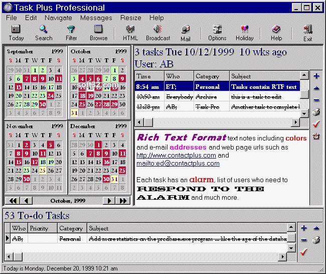Task Plus Professional Screenshot 3