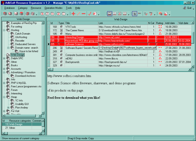 AdbSoft Resource Organizer Screenshot 1