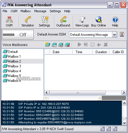 IVM Telephone Answering Attendant Screenshot 2