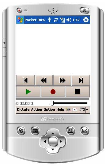 Pocket Dictate Dictation Recorder Screenshot 1