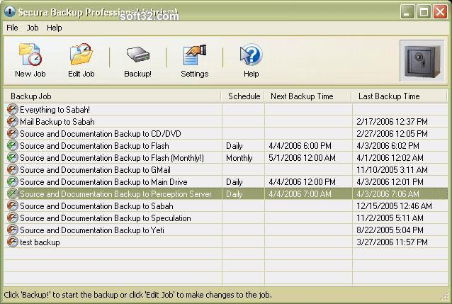 Secura Backup Professional Screenshot 3