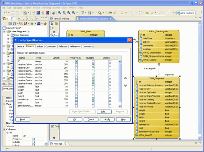 DBVA for Eclipse for Windows Screenshot