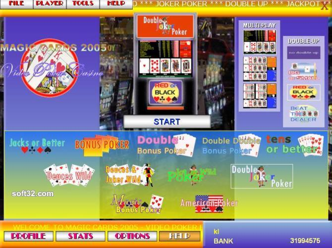 Magic Cards 2005 - Video Poker Edition Screenshot 2