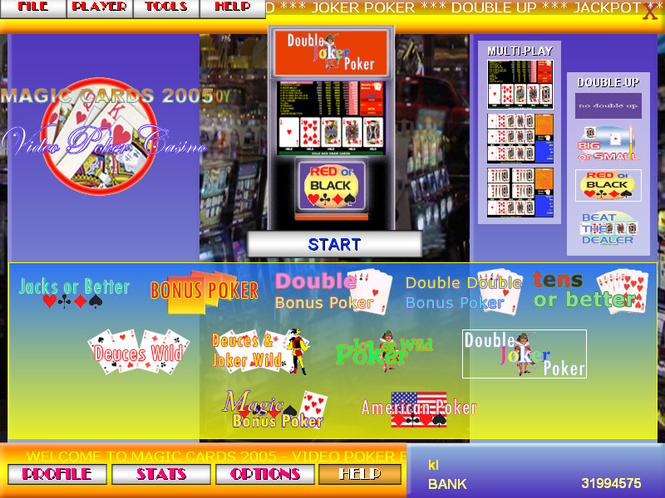Magic Cards 2005 - Video Poker Edition Screenshot 1