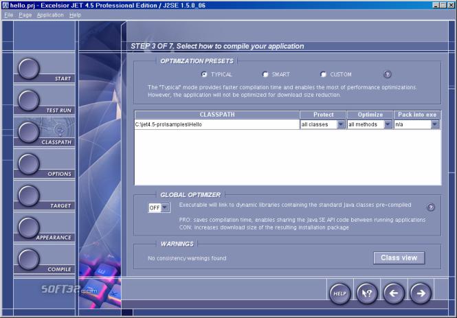 Excelsior JET for Windows Screenshot 2