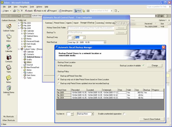 Automatic Recall Screenshot 1