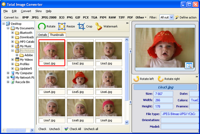 Total Image Converter Screenshot