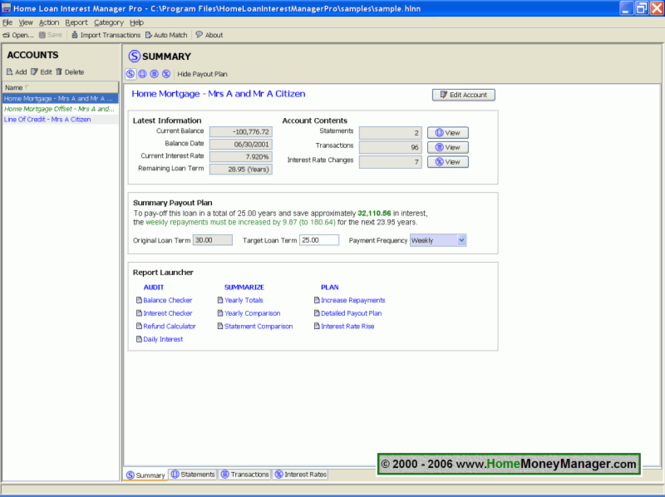 Home Loan Interest Manager Pro Screenshot 1