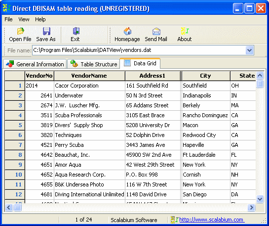 DBISAM viewer Screenshot 1