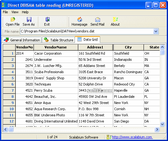 DBISAM viewer Screenshot 3