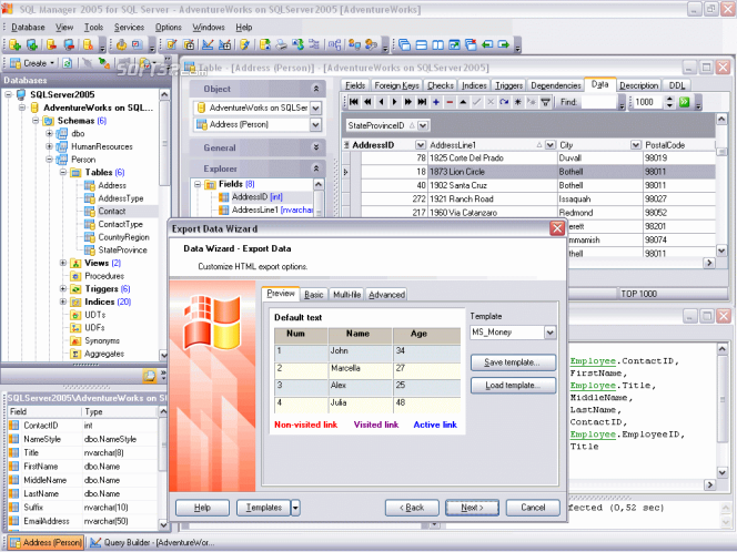 EMS SQL Manager for SQL Server Freeware Screenshot 3