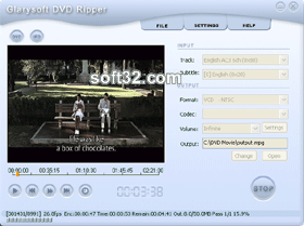 Glarysoft DVD Ripper Screenshot