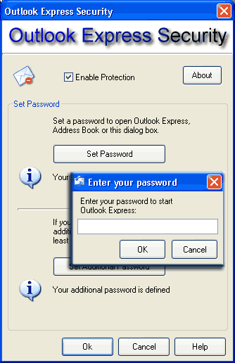 Outlook Express Security Screenshot