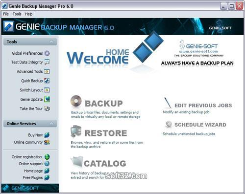 Genie Backup Manager Professional Screenshot 2