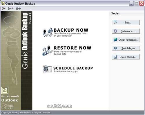 Genie Outlook Backup Screenshot 2
