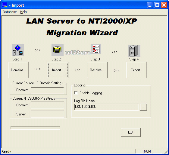 LAN Server to Windows Migration Wizard Screenshot