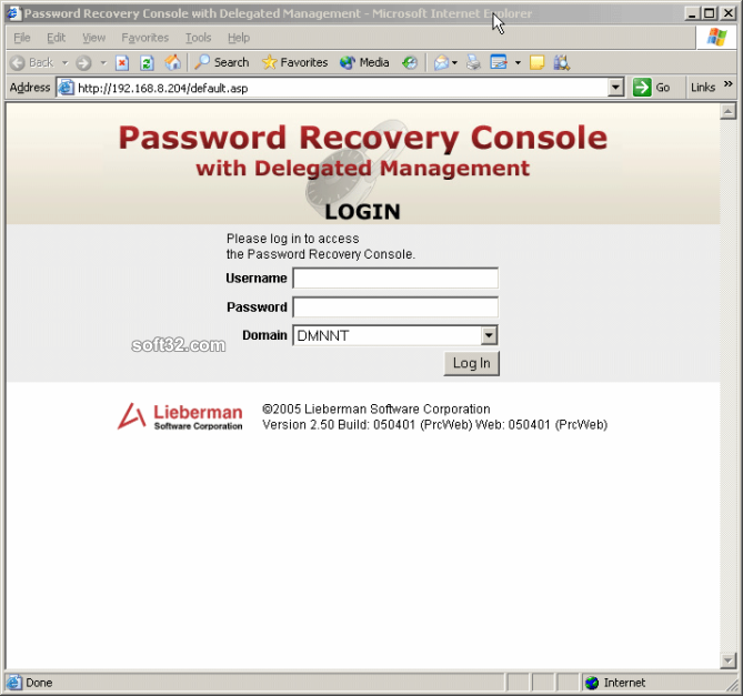 Password Recovery Console Screenshot 3