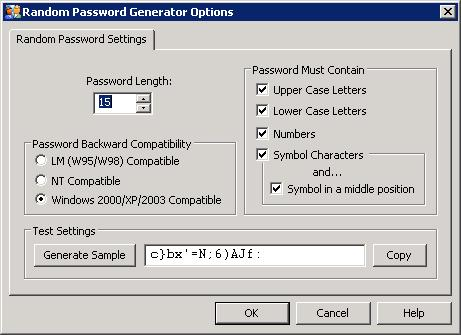 Random Password Generator Screenshot 1