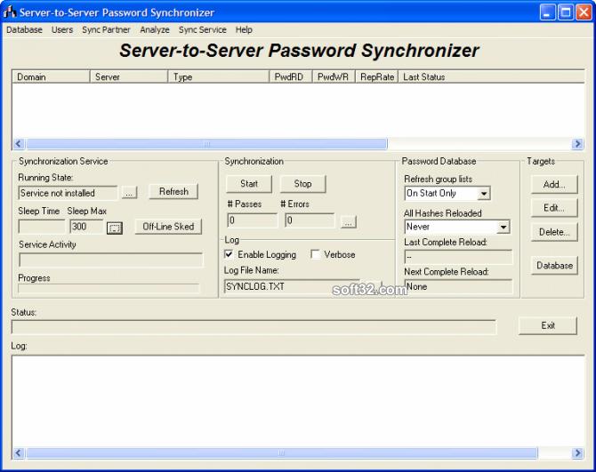 Server-To-Server Password Synchronizer Screenshot 2