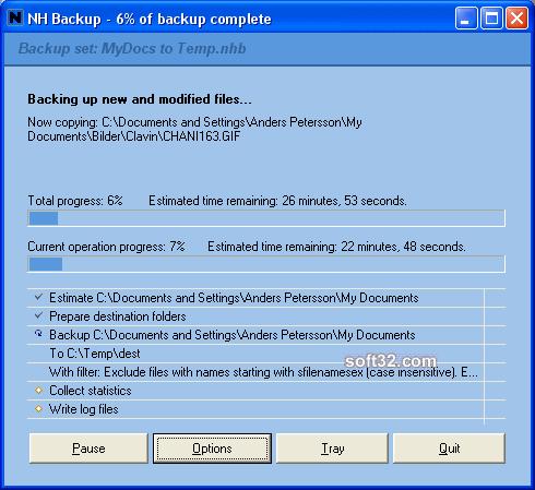 NH Backup Screenshot 2