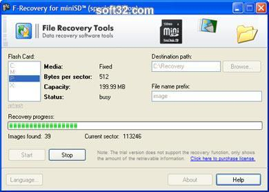 F-Recovery for miniSD Screenshot 3